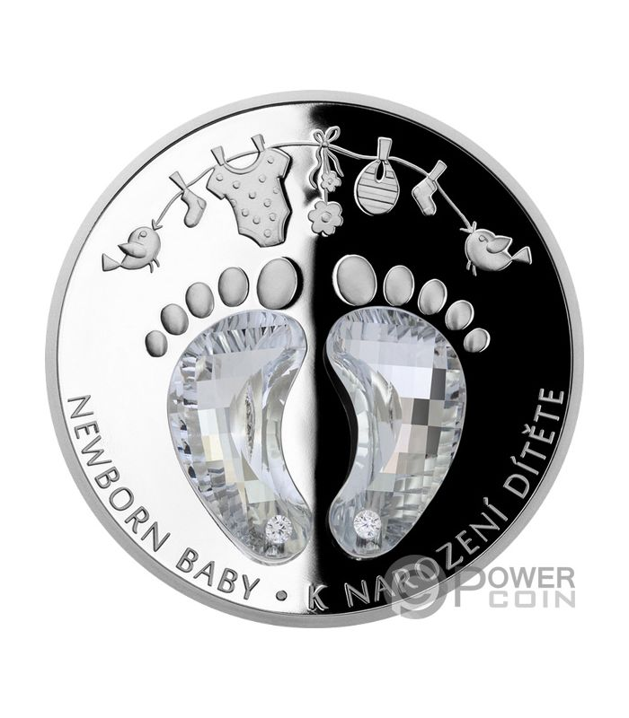 Newborn Baby 1 Oz Silver Coin 2 Niue 2019 Power Coin