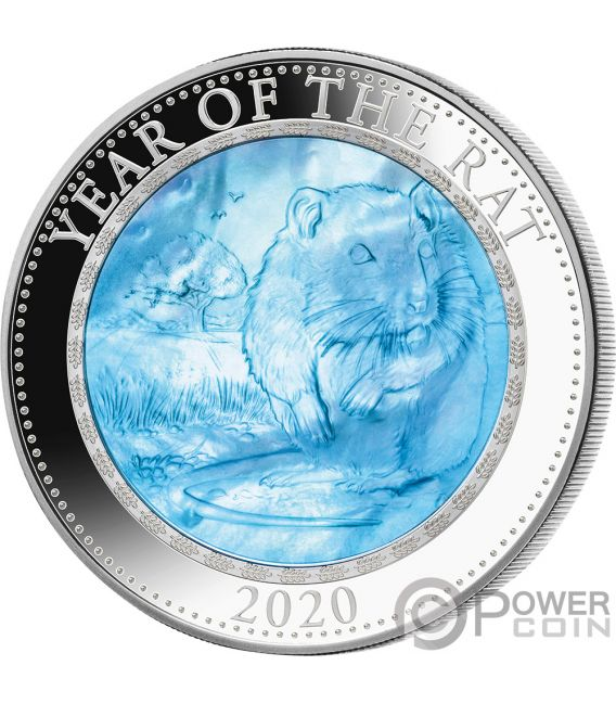 RAT Rata Lunar Year Series 5 Oz Moneda Plata 25$ Cook Islands 2020