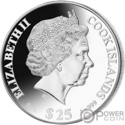 RAT Rata Lunar Year Series 5 Oz Moneda Plata 25$ Cook Islands 2020