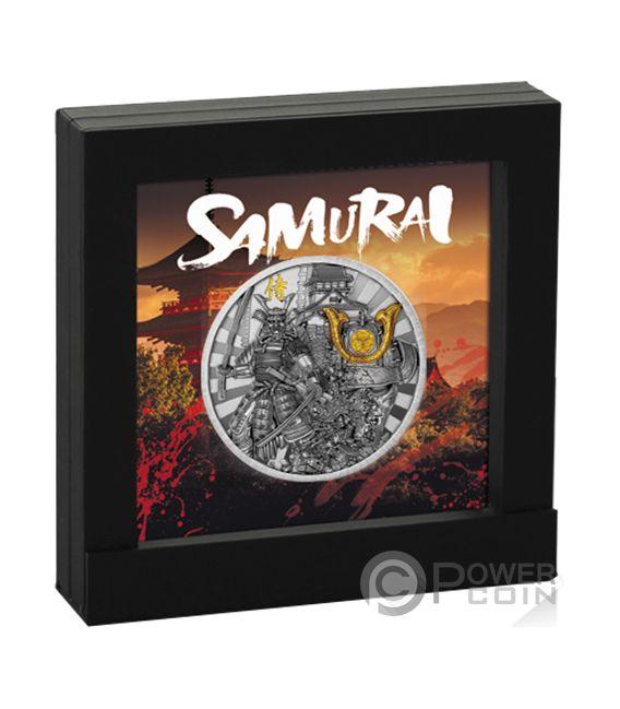 SAMURAI Guerreros Warriors 2 Oz Moneda Plata 5$ Niue 2019