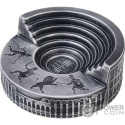 COLOSSEUM Coliseo Ave Cesar 4 Oz Moneda Plata 10$ Niue 2019