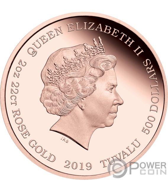 BARBIE 60 Aniversario 2 Oz Moneda Oro 500$ Tuvalu 2019