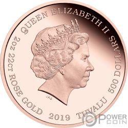 BARBIE 60 Jahrestag 2 Oz Gold Münze 500$ Tuvalu 2019