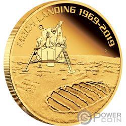 MOON LANDING Luna 50 Aniversario 1 Oz Moneda Oro 100$ Australia 2019