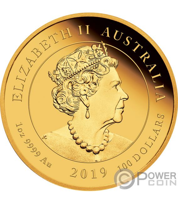 MOON LANDING 50th Anniversary 1 Oz Gold Coin 100$ Australia 2019