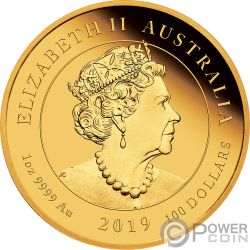 MOON LANDING 50th Anniversary 1 Oz Золото Монета 100$ Австралия 2019