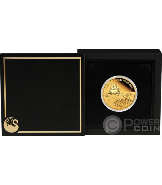 MOON LANDING Mond 50 Jahrestag 1 Oz Gold Münze 100$ Australia 2019