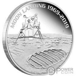 MOON LANDING Luna 50 Aniversario 1 Oz Moneda Argento 1$ Australia 2019