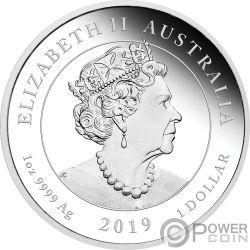 MOON LANDING Луна 50 Годовщина 1 Oz Монета Серебро 8$ Австралия 2019
