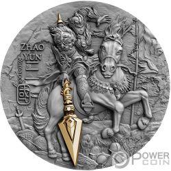 ZHAO YUN Ancient Chinese Warrior Guerrieri Cinesi 2 Oz Moneta Argento 5$ Niue 2019
