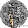 ZHAO YUN Ancient Chinese Warrior Guerreros Chinos 2 Oz Moneda Plata 5$ Niue 2019
