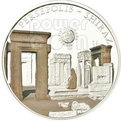 PERSEPOLIS Shiraz Iran World Of Wonders Moneta Argento 5$ Palau 2011