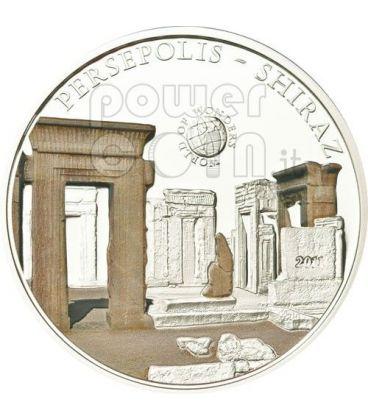 PERSEPOLIS Shiraz Iran World Of Wonders 5$ Silver Coin Palau 2011