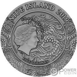 ZHAO YUN Ancient Chinese Warrior Chinesische Kriegerinnen 2 Oz Silber Münze 5$ Niue 2019
