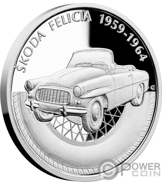 SKODA FELICIA On Wheels 1 Oz Silver Coin 1$ Niue 2019