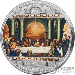 LAST SUPPER Тайная Вечеря Masterpieces of Art 3 Oz Монета Серебро 20$ Острова Кука 2019