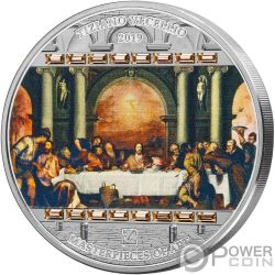 LAST SUPPER Ultima Cena Masterpieces of Art 3 Oz Moneda Plata 20$ Cook Islands 2019