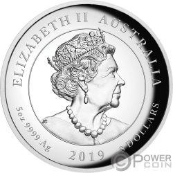 MOON LANDING Луна 50 Годовщина 5 Oz Монета Серебро 8$ Австралия 2019