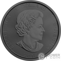 WOLF Mad Animals Ruthenium 1 Oz Серебро Монета 5$ Канада 2018