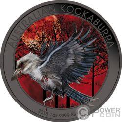 KOOKABURRA Mad Animals Ruthenium 1 Oz Silver Coin 1$ Australia 2018