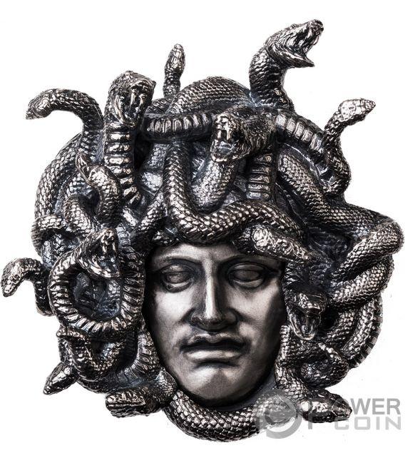 MEDUSA Amulet of Power 8 Oz Silver Coin 15$ Niue 2019