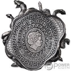 MEDUSA Amuleto Potere 8 Oz Moneta Argento 15$ Niue 2019