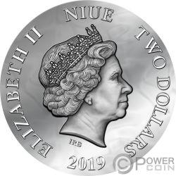 EVANESCA Dark Beauties Silber Münze 2$ Niue 2019