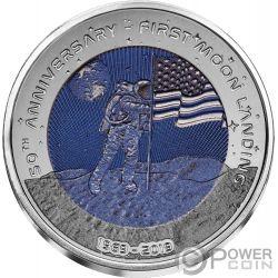 MOON LANDING Mond 50 Jahrestag Titan Münze 2 Cedis Ghana 2019