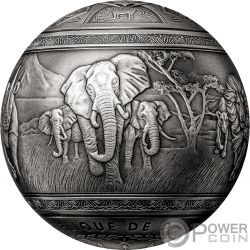 BIG FIVE Sfera 1 Kg Moneta Argento 1000 Francs Djibouti 2019