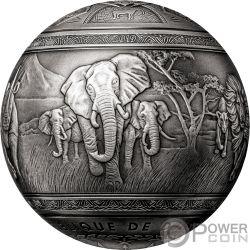 BIG FIVE Сфера 1 Кг Монета Серебро 1000 Франков Джибути 2019