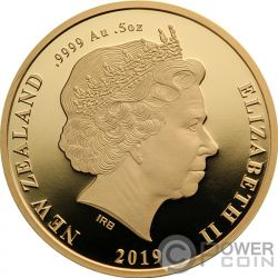 MAUI AND THE GODDESS OF FIRE Fuego Tekau Tara Maui Set 2 Monedas Oro 10$ New Zealand 2019