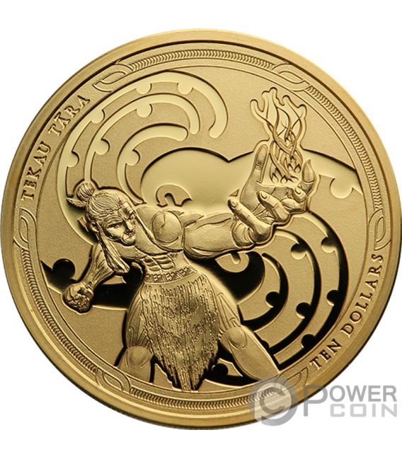 MAUI AND THE GODDESS OF FIRE Tekau Tara Maui Set 2 Gold Coins 10$ New Zealand 2019