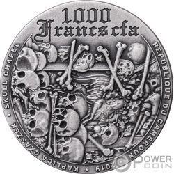 SKULL CHAPEL 1 Oz Silver Coin 1000 Francs Cameroon 2019
