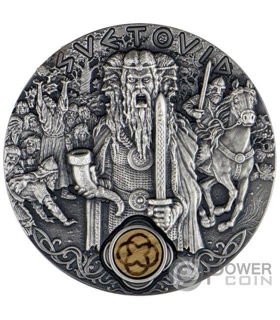 SVETOVID War Slavic Gods 2 Oz Silver Coin 2$ Niue 2019