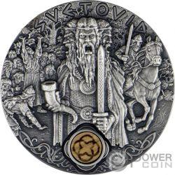 SVETOVID Krieg Slavic Gods 2 Oz Silber Münze 2$ Niue 2019