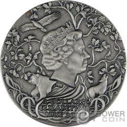 SVETOVID Guerra Slavic Gods 2 Oz Moneda Plata 2$ Niue 2019