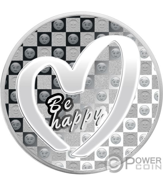BE HAPPY Lucky Charm 1 Oz Silver Coin 1000 Francs Cameroon 2019