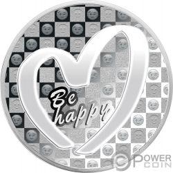 BE HAPPY Счастливая Удача 1 Oz Монета Серебро 1000 Франков Камерун 2019