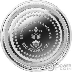POLISH FOLKLORE Silver Coin 500 Francs Cameroon 2019