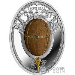 KARELIAN BIRCH EGG Huevo Abedul Faberge Moneda Plata 2$ Niue 2018