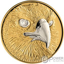 WEDGE TAILED EAGLE Wildlife Up Close 1 Oz Gold Coin 100$ Niue 2019