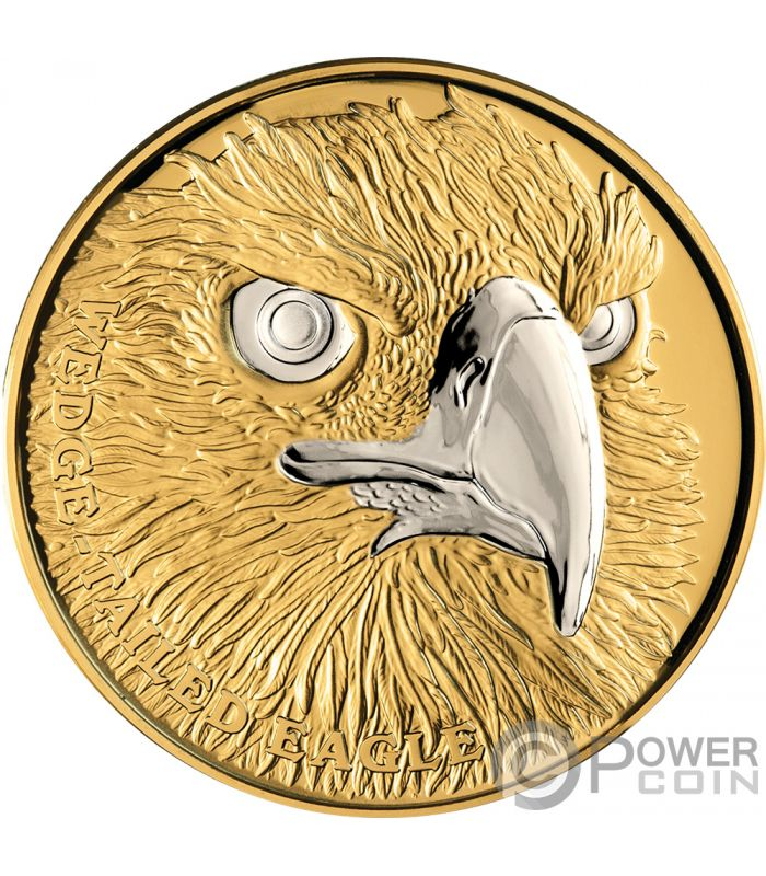Wedge Tailed Eagle Wildlife Up Close 1 Oz Gold Coin 100