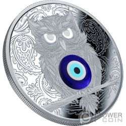 WINGED THOUGHTS Owl Amulet Silver Coin 1$ Niue 2019