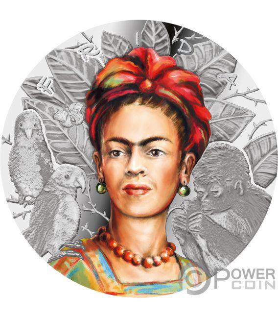 FRIDA KAHLO Legendary Woman 1 Oz Plata 1000 Francos Cameroon 2019