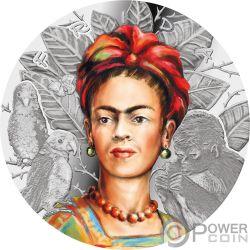 FRIDA KAHLO Legendary Woman 1 Oz Argento 1000 Franchi Cameroon 2019