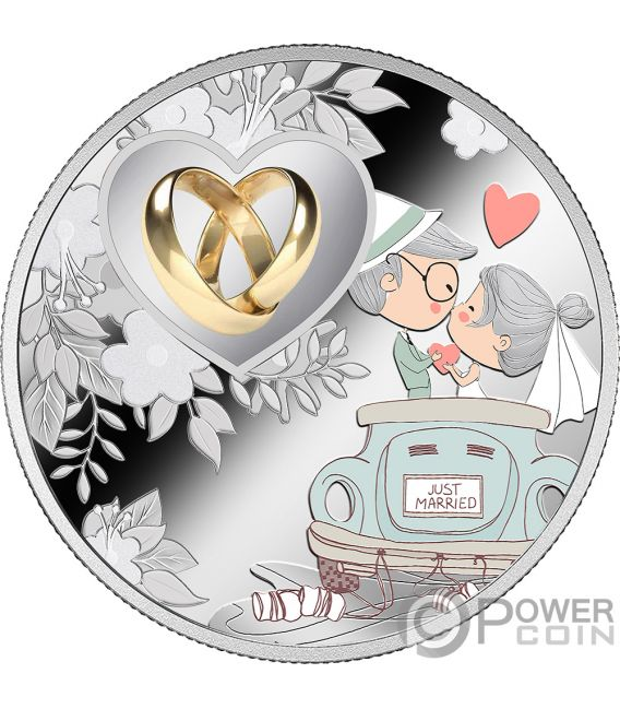 WEDDING Love Silver Coin 500 Francs Cameroon 2019