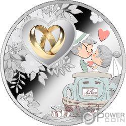 WEDDING Matrimonio Amore Moneta Argento 500 Franchi Cameroon 2019