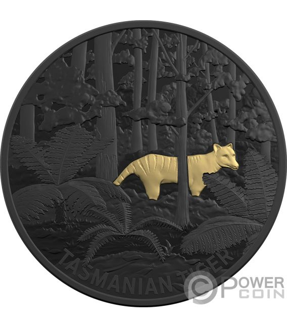 TASMANIAN TIGER Beutelwolf Echoes Fauna 1 Oz Silver Coin 5$ Australia 2019