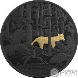 TASMANIAN TIGER Lobo Marsupial Echoes Fauna 1 Oz Moneda Plata 5$ Australia 2019