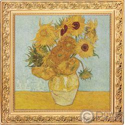 SUNFLOWERS Girasoli Vincent Van Gogh 1 Oz Moneta Argento 1$ Niue 2019